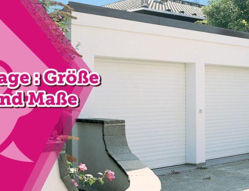 Garage : Größe und Maße